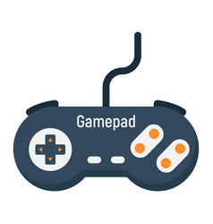 Gamepad flat icon console and joystick vector