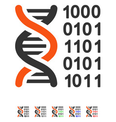 Genetical code flat icon vector