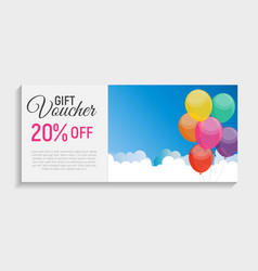 Gift voucher template background vector