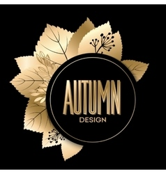 Gold fall design vector image