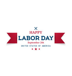 happy labor day greeting banner design vector image