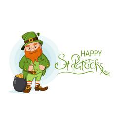 happy saint patricks day hand drawn vector image