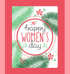 happy womens day typography banner greeting card vector image