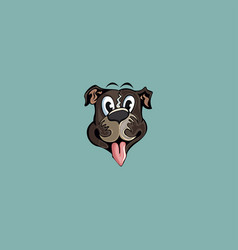 head dog cartoon logo vector image