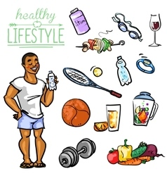 Healthy Lifestyle - Man vector