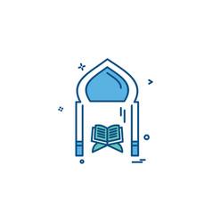 Holy quran icon design vector