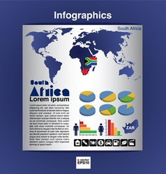 Infographic map of South Africa EPS10 vector image
