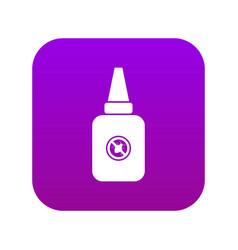 Insect spray icon digital purple vector