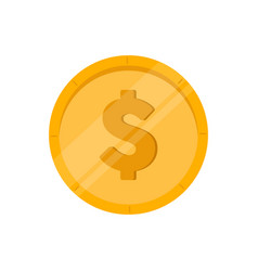 isolated golden coin icon vector image