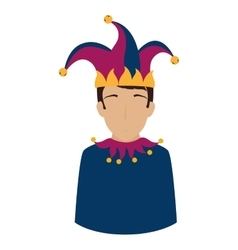 jester comic character isolated icon vector image