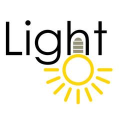 light icon cartoon style vector image