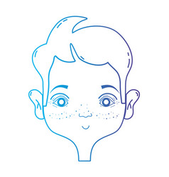 line man head with hairstyle design vector image