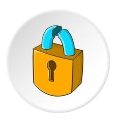 Lock icon isometric style vector image