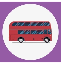 London bus sity transportation Modern flat design vector