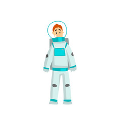 man dressed as an astronaut funny person vector image