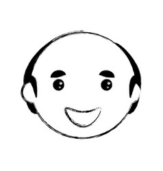 Man smiling cartoon vector
