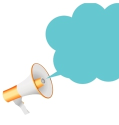 Megaphone with Sheesh Megaphone and Speech Bubble vector