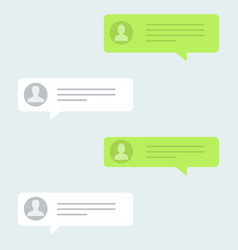 messages bubbles in trendy flat design chat vector image