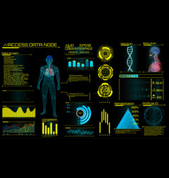 modern medical examination in hud style design ul vector image