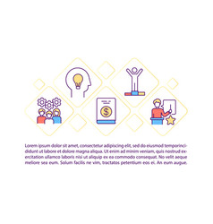 Motivational content concept icon with text vector