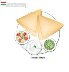 Nahud sambusa or tajik fried dumpling vector