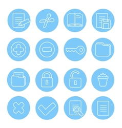 navigation icon and buttons set different vector image