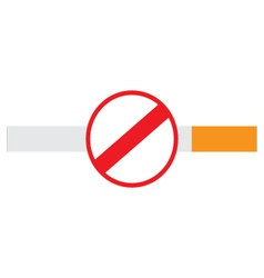 No smoking sign on a cigarette vector image