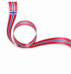Norwegian wavy flag background vector
