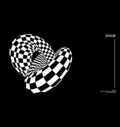 optical illusion torus knot background vector image