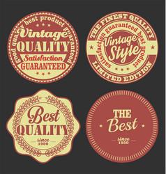pastel color vintage labels collection 1 vector image