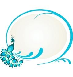 Peacock floral frame vector