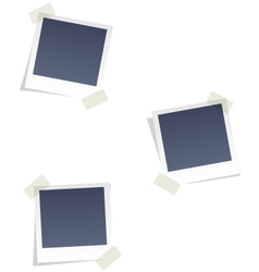 Photo frames for infographic isolated on white vector image