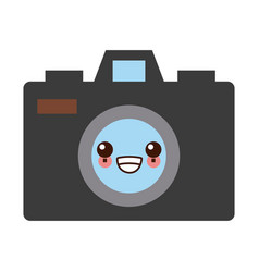 photographic camera symbol kawaii cute cartoon vector image