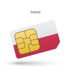 Poland mobile phone sim card with flag vector image vector image