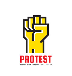 protest - logo template vector image