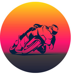 Racer ride sportbike eps 10 isolated icon vector