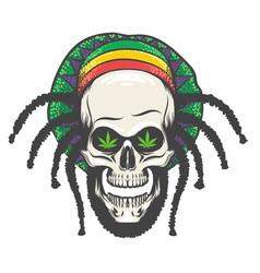 Rastaman skull vector