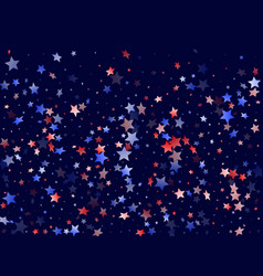 red blue white star sparkles american background vector image