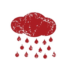 Red grunge rain logo vector