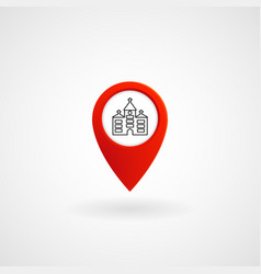 red location icon for the church eps file vector image