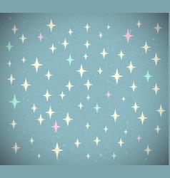 Retro starry background vector
