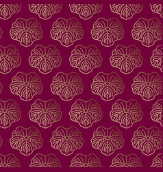 seamless pattern japanese gold ornament vector image