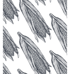 Seamless pattern with hand drawn sketched vector