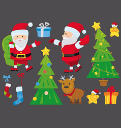 set isolated christmas design elements vector image