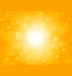 summer brightly blur ray yellow background vector image