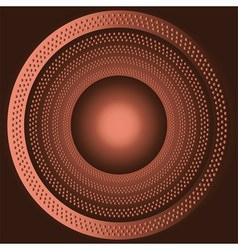 Technology brown background with circle vector image