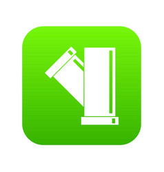 Tee fitting pipe icon digital green vector