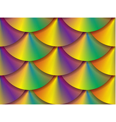 Vibrant holographic circles seamless pattern vector