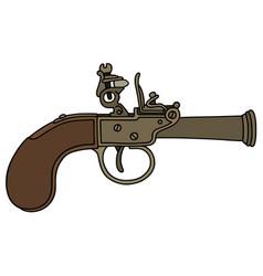 Vintage percussion handgun vector