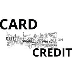 What to do when you loose your credit card text vector